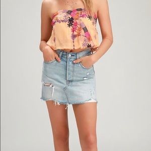 NWT Free People Feel Your Heartbeat Crop Top Sz L